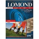 Фотобумага для струйных принтеров Lomond А6, 20 листов, 270г/м2, атласная, 1106201