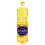 Масло растительное Злато рафинированное дезодорированное, 1л