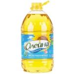 Масло растительное Олейна рафинированное дезодорированное, 5л