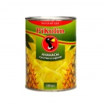Консервированные фрукты Pikolin ананасы кусочки, 580мл