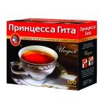 Чай Принцесса Гита Индия, черный, 100 пакетиков без ярлычка