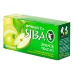 Чай Принцесса Ява Зеленое яблоко, зеленый, 25 пакетиков