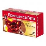 Чай Принцесса Гита Цейлонский без ярлычков, черный, 30 пакетиков