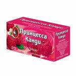 Чай Принцесса Канди с малиной, черный, 25 пакетиков