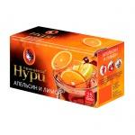 Чай Принцесса Нури, черный, 25 пакетиков, Апельсин и лимон