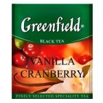 Чай Greenfield Vanilla Cranberry (Ванилла Крэнберри), черный, для HoReCa, 100 пакетиков