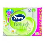 Туалетная бумага Zewa Deluxe ромашка, белая, 3 слоя, 12 рулонов, 150 листов, 21м