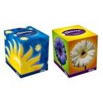 Салфетки косметические Kleenex Classic 50шт, 21.6х21.6см, 2 слоя, белые