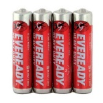 Батарейка Energizer Eveready Heavy Duty, AAA/R03, солевая, 4шт/уп