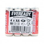 Батарейка Energizer Eveready Heavy Duty АА/R06, 1.5В, солевая, 4шт/уп