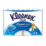 Туалетная бумага Kleenex Clean Care без аромата, белая, 2 слоя, 12 рулонов, 171 лист, 19.5 м