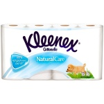Туалетная бумага Kleenex Natural Care без аромата, белая, 3 слоя, 8 рулонов, 140 листов, 18 м