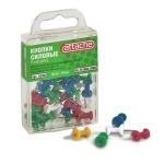 Кнопки для пробковых досок Attache цветные, 30шт/уп, гвоздики