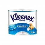Туалетная бумага Kleenex Clean Care без аромата, белая, 2 слоя, 4 рулона, 171 лист, 19.5 м