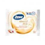 Влажная туалетная бумага Zewa миндальное молочка, 42 листа
