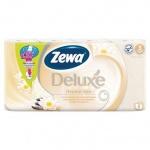 Туалетная бумага Zewa Deluxe Арома Спа, бежевая, 3 слоя, 8 рулонов, 150 листов, 21м