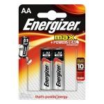 Батарейка Energizer Max AA/LR6, 1.5В, алкалиновые, 2шт/уп