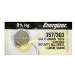 Батарейка Energizer Silver Oxide 357/303 MBL1, серебряно-цинковая, 10шт/уп