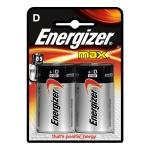 Батарейка Energizer Max E95/D BP, алкалиновая, 2шт/уп