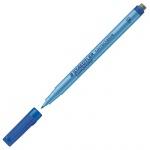 Маркер стираемый для пленок Staedtler Lumocolor синий, 0.6мм, круглый наконечник, с ластиком