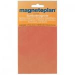 Магниты Magnetoplan d=20мм, 20шт/уп, оранжевый