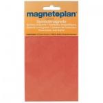 Магниты Magnetoplan d=20мм, 20шт/уп, красный
