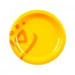 Тарелка одноразовая Huhtamaki Whizz d=15см, желтая, 100шт/уп