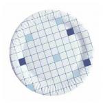 Тарелка одноразовая Huhtamaki d=18см, клетка, 50шт/уп