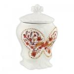 Чай Hilltop Цветочный орнамент, черный, листовой, 100г, в чайнице, С чабрецом