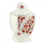 Чай Hilltop Цветочный орнамент, черный, листовой, 100г, в чайнице, Эрл Грей