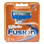 Кассеты для бритвенного станка Gillette Fusion, 2шт