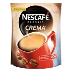 Кофе растворимый Nescafe Classic Crema 70г, пакет