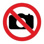 Знак Фотографировать запрещено Гасзнак d=150мм, самоклеящаяся пленка ПВХ