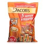 Кофе порционный Jacobs 3в1 Классик 50шт х 12.6г, + 5шт, растворимый, пакет