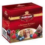Чай Майский Лесные ягоды, черный, 20 пирамидок
