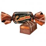 Конфеты Славянка Сласть шоколадная нуга с карамелью, 1000г