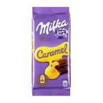 Шоколад Milka, 90г, с карамелью
