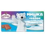 Шоколад Крупской Мишка на Севере молочный, с воздушным рисом, 80г