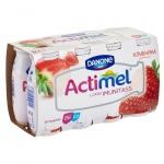 Кисломолочный напиток Actimel клубника, 100г х 8шт