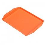 Поднос для фаст-фуда оранжевый, 42х32 см