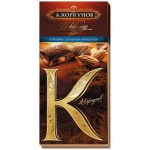 Шоколад Коркунов горький с миндалем, 90г