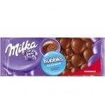 Шоколад Milka Bubbles молочный, 80г, пористый
