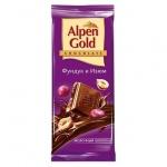 Шоколад Alpen Gold молочный фундук и изюм, 90г