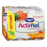 Кисломолочный напиток Actimel мультифрукт, 2.5%, 100г х 6шт