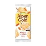 Шоколад Alpen Gold белый миндаль и кокос, 90г