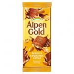 Шоколад Alpen Gold молочный арахис и кукрузные хлопья, 90г