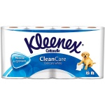 Туалетная бумага Kleenex Clean Care без аромата, белая, 2 слоя, 8 рулона, 171 лист, 19.5 м