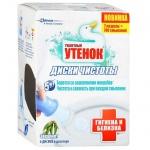 Освежитель для унитаза Туалетный Утенок Диски чистоты гигиена и белизна эвкалипт, 6шт, в дозаторе