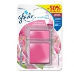 Освежитель воздуха гелевый Glade Sensations цветочное совершенство, 8г, cменный аромаблок, промо