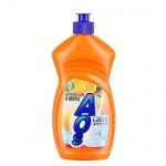 Средство для мытья посуды Aos 0.5л, апельсин/ мята, бальзам